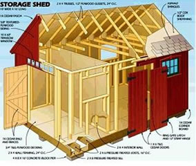 wooden storage shed building plans